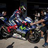 Todo listo en Yamaha para el trabajo de Jorge Lorenzo