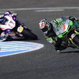 Hiroshi Aoyama y Karel Abraham en Jerez