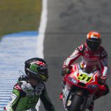 Scott Redding y Michele Pirro en Jerez