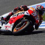Marc Márquez en acción en el GP de España