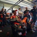 Colin Edwards ha luchado en la Q2 de Jerez