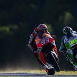 Márquez y Bautista se cruza en la Q2 en Jerez