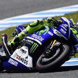 Valentino Rossi consigue ser segundo en Jerez