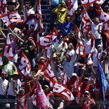 Marc Márquez celebra su victoria en Jerez ante sus fans
