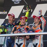 El podio del GP de España de MotoGP en Jerez