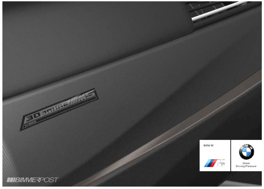 Detalles del BMW M5 30 Aniversario - Portada del dossier
