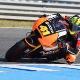Aleix Espargaró en acción en el test post-GP