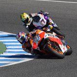Pedrosa y Abraham en el test post-GP en Jerez