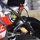 Detalle de la GP14 de Iannone tras la caída