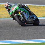 Hiroshi Aoyama en acción en el test de Jerez