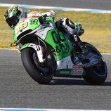 Álvaro Bautista en acción en el test post-GP de Jerez