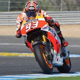 Marc Márquez en acción en el test post-GP en Jerez