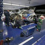 Retoques en el Polo R WRC de Ogier en Villa Carlos Paz