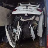 Detalle de las piezas del BMW X6 robado