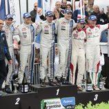 El podio del Rally de Argentina 2014