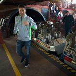Nicky Hayden bajando de la montaña rusa