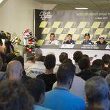 La prensa atenta a la rueda de prensa de MotoGP en Francia