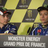 Rueda de prensa en Le Mans para la pareja de Yamaha