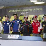 Los seis protagonistas de la rueda de prensa en Le Mans