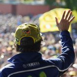 Valentino Rossi en el encuentro con los fans franceses