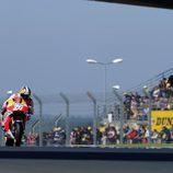Dani Pedrosa en acción en el FP2 de Le Mans