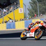 Marc Márquez en la curva 1 de Le Mans