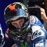 Mirada seria de Jorge Lorenzo en la Q2 de Le Mans