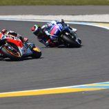 Pedrosa y Lorenzo en posiciones retrasadas en Le Mans