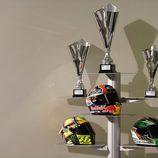 Los cascos de los pilotos del podio en Le Mans