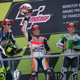 Podio del Gran Premio de Francia de MotoGP 2014