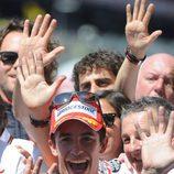 Marc Márquez ya lleva cinco y el mismo lo muestra
