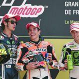 Todos contentos en el podio del GP de Francia