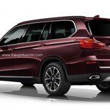 Render del BMW X7 - trasera