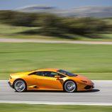 Lamborghini Huracán LP610-4 - naranja en circuito