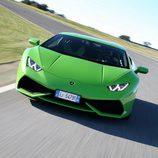 Lamborghini Huracán LP610-4 - carrocería verde en circuito