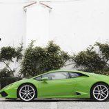Lamborghini Huracán LP610-4 - carrocería verde lateral