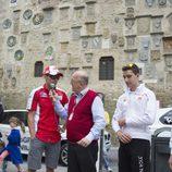 Pilotos 'de casa' en el acto previo del GP de Italia