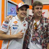 Fernando Alonso y Marc Márquez juntos en Mugello