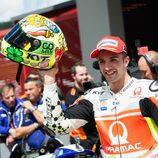 Andrea Iannone en el parque cerrado de MotoGP por primera vez