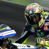 Primer plano casco Valentino Rossi en Mugello