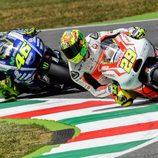 Iannone y Rossi, héroe y semi-villano hoy en Mugello