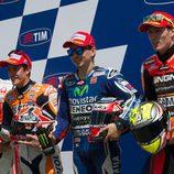 Márquez, Iannone, Lorenzo y Aleix, cuatro fantásticos de la Q2 de Mugello