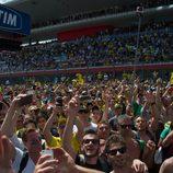 Los fans invadieron la recta de meta de Mugello