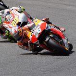 Dani Pedrosa de menos a más en el GP de Italia
