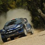 Elfyn Evans surcando el SS5 del Rally de Italia
