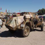 Trasera del vehículo militar