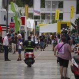 El paddock de MotoGP en Barcelona el jueves