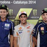 Triplete de favoritos en la rueda de prensa de Barcelona