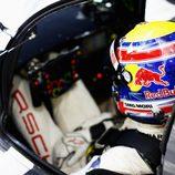 Mark Webber en el interior del Porsche 919 Hybrid #20