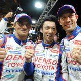 Nakajima, Sarrazin y Wurz celebran su pole en Le Mans